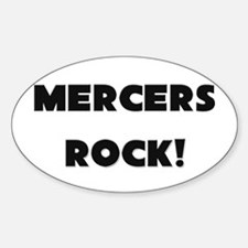 Mercers ROCK Oval Decal