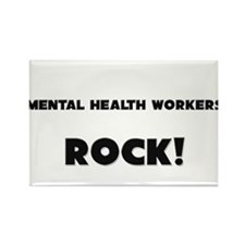 Mental Health Workers ROCK Rectangle Magnet