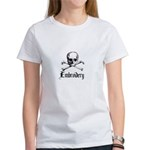 Embroidery - Skull and Crossb Women's T-Shirt
