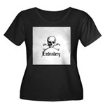 Embroidery - Skull and Crossb Women's Plus Size Sc