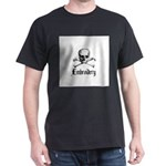 Embroidery - Skull and Crossb Dark T-Shirt