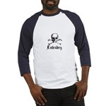 Embroidery - Skull and Crossb Baseball Jersey