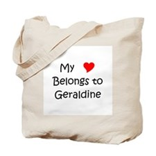 Name geraldine Tote Bag