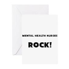 Mental Health Nurses ROCK Greeting Cards (Pk of 10