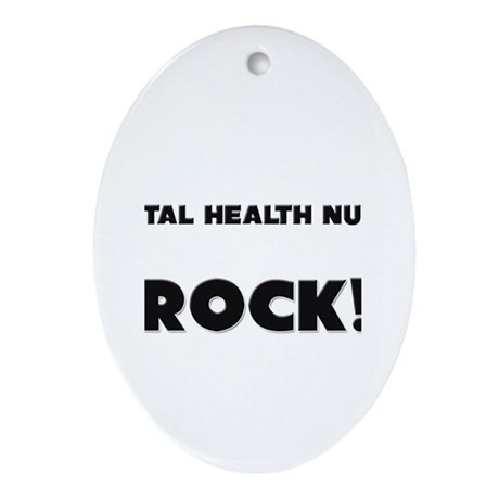Mental Health Nurses ROCK Oval Ornament