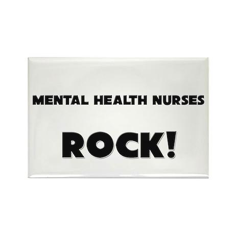 Mental Health Nurses ROCK Rectangle Magnet (10 pac