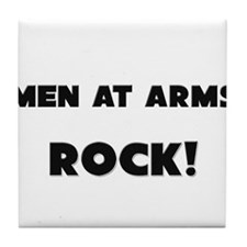 Men At Arms ROCK Tile Coaster