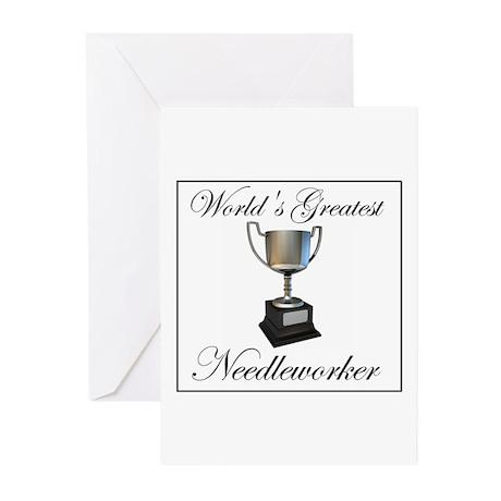 World's Greatest Needleworker Greeting Cards (Pk o