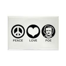 Peace Love Poe Rectangle Magnet