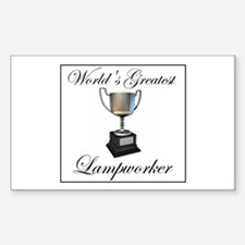World's Greatest Lampworker Rectangle Decal