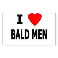 I Love Bald Men Rectangle Decal