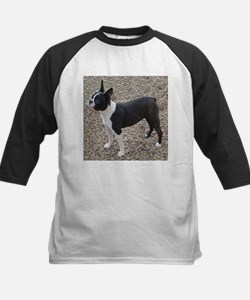 Boston Terrier Pup2 Kids Baseball Jersey