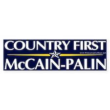 Country First, McCain-Palin Bumper Bumper Sticker