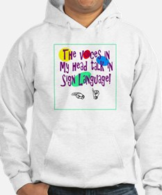 Voices in head language Hoodie