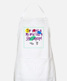 Voices in head language BBQ Apron
