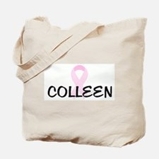 COLLEEN pink ribbon Tote Bag