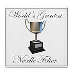 World's Greatest Needle Felte Tile Coaster