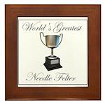 World's Greatest Needle Felte Framed Tile
