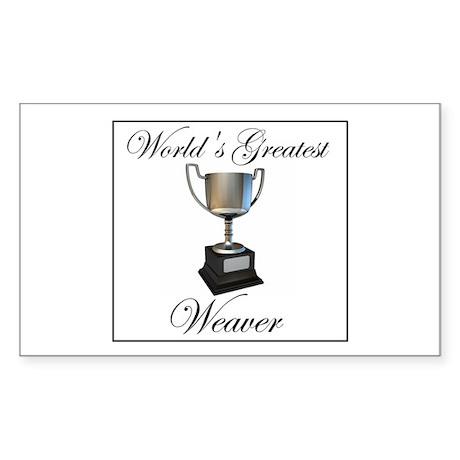 World's Greatest Weaver Rectangle Sticker