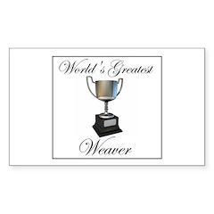 World's Greatest Weaver Rectangle Sticker 50 pk)