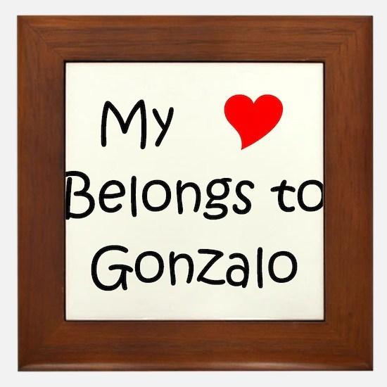 Cool Gonzalo Framed Tile