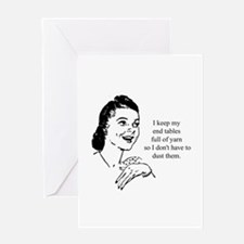 Yarn - Don't Have to Dust Greeting Card
