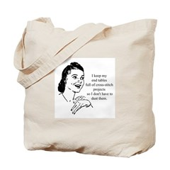 Cross-Stitch - Don't have to Tote Bag