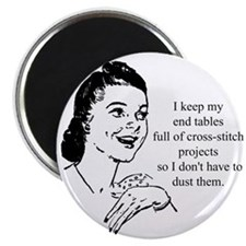 "Cross-Stitch - Don't have to 2.25"" Magnet (10 pack"
