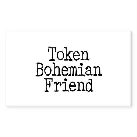 Token Bohemian Friend Rectangle Sticker