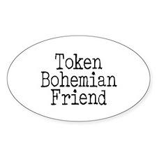 Token Bohemian Friend Oval Decal