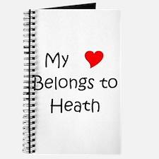 Cute Heath in my heart Journal