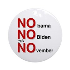 No OBama Ornament (Round)