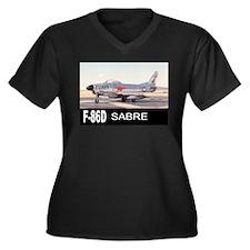 F-86 SABRE INTERCEPTOR Women's Plus Size V-Neck Da