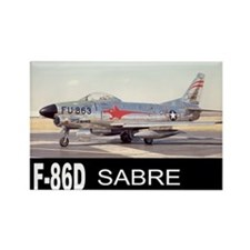 F-86 SABRE INTERCEPTOR Rectangle Magnet