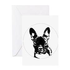 Unique Cute funny bulldogs Greeting Card