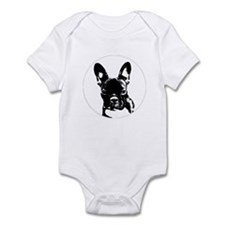 French Bulldog in black circle Body Suit