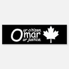 Omar Khadr bumper sticker. Our citizen-Our justice
