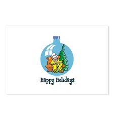 Stocking Knitter - Happy Holi Postcards (Package o