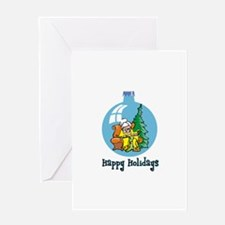 Stocking Knitter - Happy Holi Greeting Card