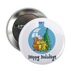 "Stocking Knitter - Happy Holi 2.25"" Button"