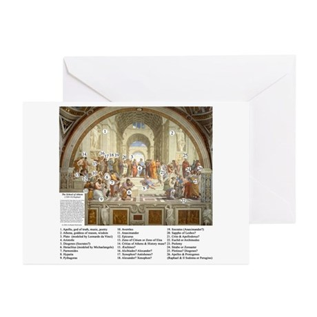 School of Athens Who's Who Greeting Cards (Pk of 2