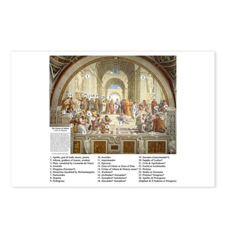 School of Athens Who's Who Postcards (Package of 8