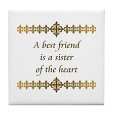 Sister of the Heart Tile Coaster