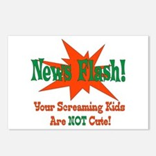 Screaming Kids NOT Cute Postcards (Package of 8)