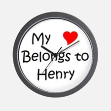 My heart belongs dario Wall Clock