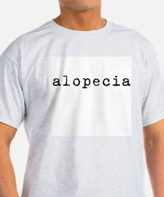 Alopecia (old typewriter) Ash Grey T-Shirt