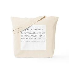 Alopecia Areata: Definition Tote Bag