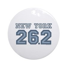 New York 26.2 Marathoner Ornament (Round)