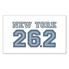 New York 26.2 Marathoner Rectangle Decal