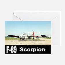 F-89 SCORPION FIGHTER Greeting Card